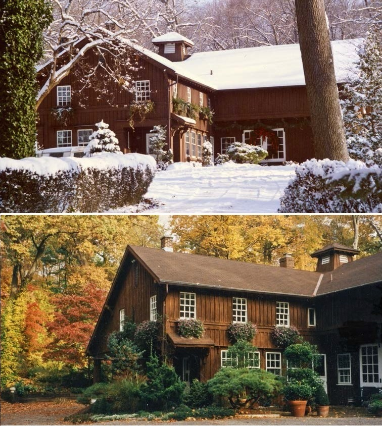 Christmas Day snowfall, 1989; First Winter snowfall. Fall is aptly named as the leaves swirl in great heaps, and the oil bill rises; Cove House dressed for fall, with oaks, maples, and dogwoods creating a tapestry of colour.